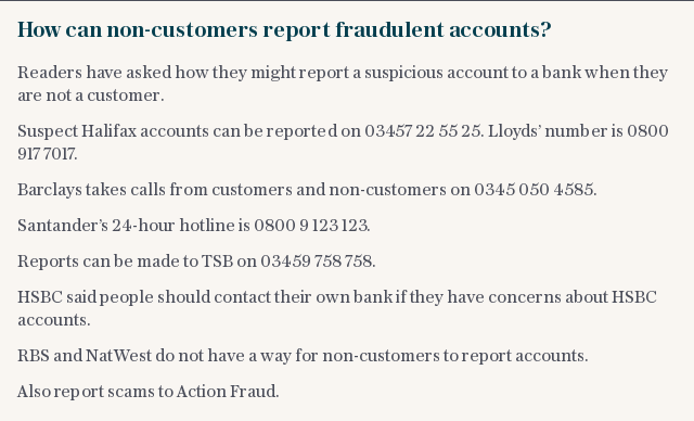 How can non-customers report fraudulent accounts?