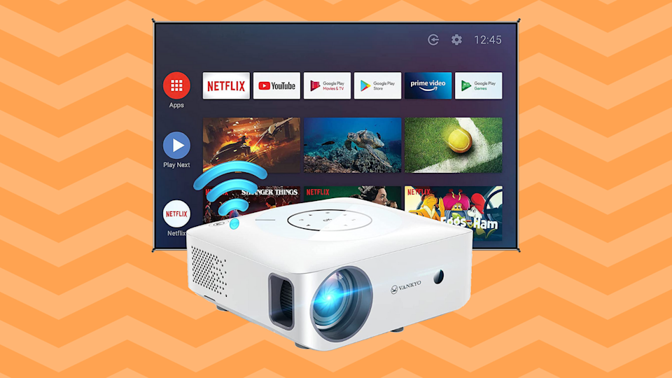 Ditch your TV and get a digital projector instead. (Photo: Amazon)