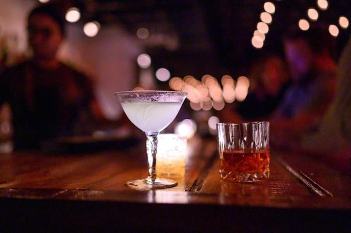 The new speakeasies tend to lure in revelers seeking fancy cocktails with an illicit 1920s vibe -- like The Mirror in Washington (AFP Photo/Eric BARADAT)