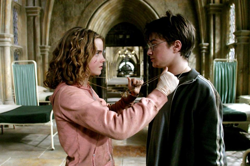 """<p><strong>HBO Max's Description:</strong> """"Harry Potter's third year at Hogwarts starts off badly when he learns deranged killer Sirius Black has escaped from Azkaban prison and is bent on murdering the teenage wizard. While Hermione's cat torments Ron's sickly rat, causing a rift among the trio, a swarm of nasty Dementors is sent to protect the school from Black. A mysterious new teacher helps Harry learn to defend himself, but what is his secret tie to Sirius Black?""""</p> <p><a href=""""https://play.hbomax.com/feature/urn:hbo:feature:GXssObwqZrVVGwwEAAABI"""" class=""""link rapid-noclick-resp"""" rel=""""nofollow noopener"""" target=""""_blank"""" data-ylk=""""slk:Watch Harry Potter and the Prisoner of Azkaban on HBO Max"""">Watch <strong>Harry Potter and the Prisoner of Azkaban</strong> on HBO Max</a> before it leaves the service in September.</p>"""