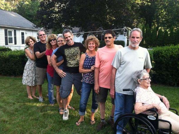 PHOTO: Some of the nine O'Brien siblings in an undated photo with their mother. They are staying in an AirBnB together as their mother fights COVID-19. (Megan O'Brien)