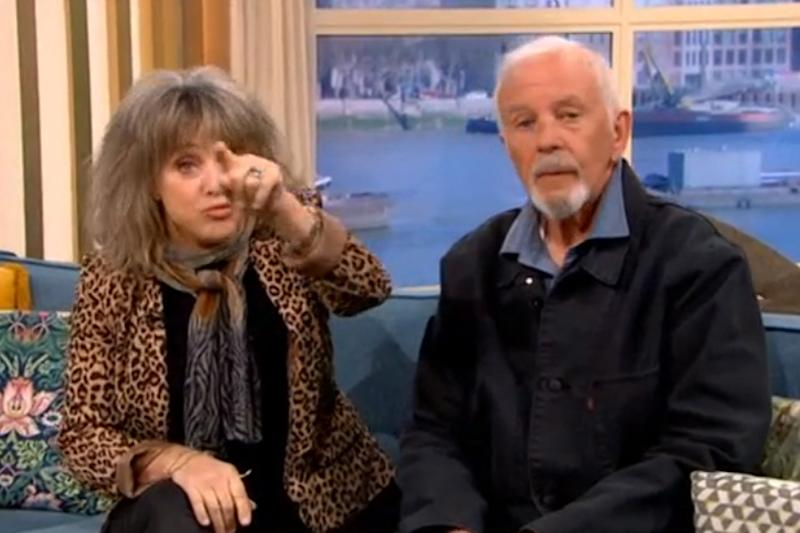 Unimpressed: Quatro seemed furious about the mistake (ITV / This Morning)