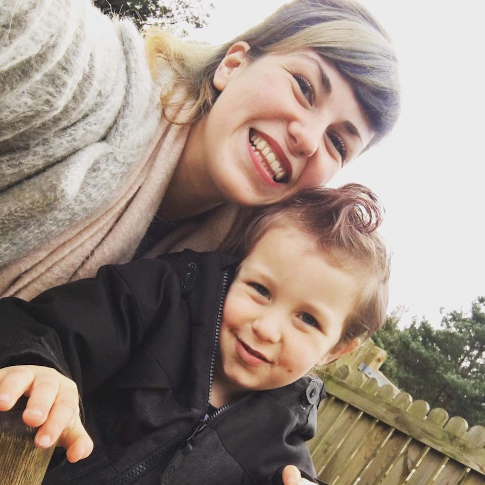 Charly Holmes and her 3-year-old boy Vincent. Source: Supplied.
