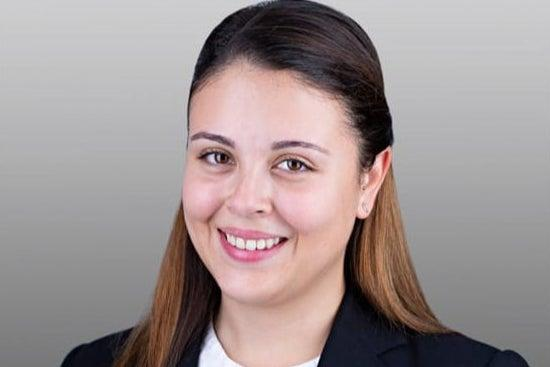 <p>Alejandra Llorente Tascon warned trial delays are hitting young barristers in the pocket</p>Handout