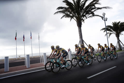 For health workers, the pandemic Tour de France is a big ask