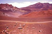 <p>The alien looking landscape of Craters Valley in Maui's Haleakala National Park, Hawaii. // March 25, 2014</p>