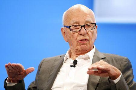 File Photo: Rupert Murdoch, Executive Chairman News Corp and Chairman and CEO 21st Century Fox speaks at the WSJD Live conference in Laguna Beach, California October 29, 2014.  REUTERS/Lucy Nicholson