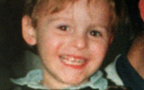 Toddler James Bulger pictured in February 1993