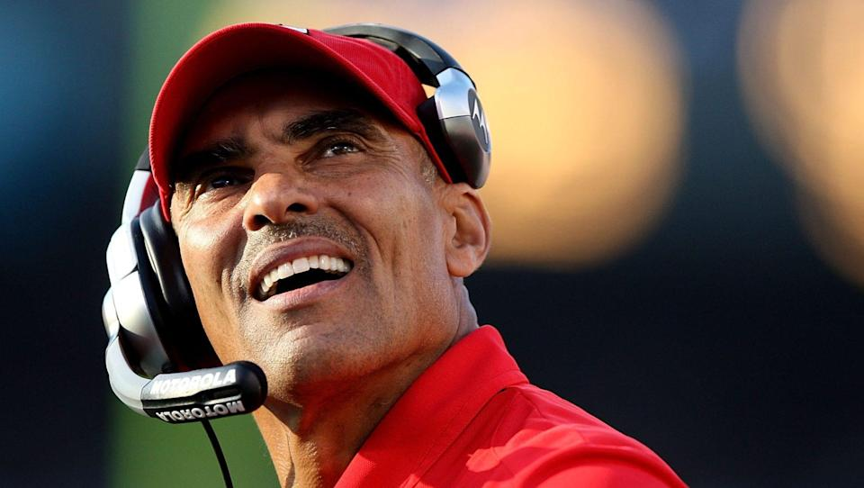 Herm Edwards, a two-time former NFL head coach, will be taking his first-ever college head coaching job. (Getty)