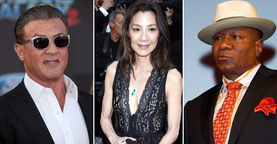 L-R: Sylvester Stallone, Michelle Yeoh and Ving Rhames - Marvel's next super-team? (Credit: WENN)