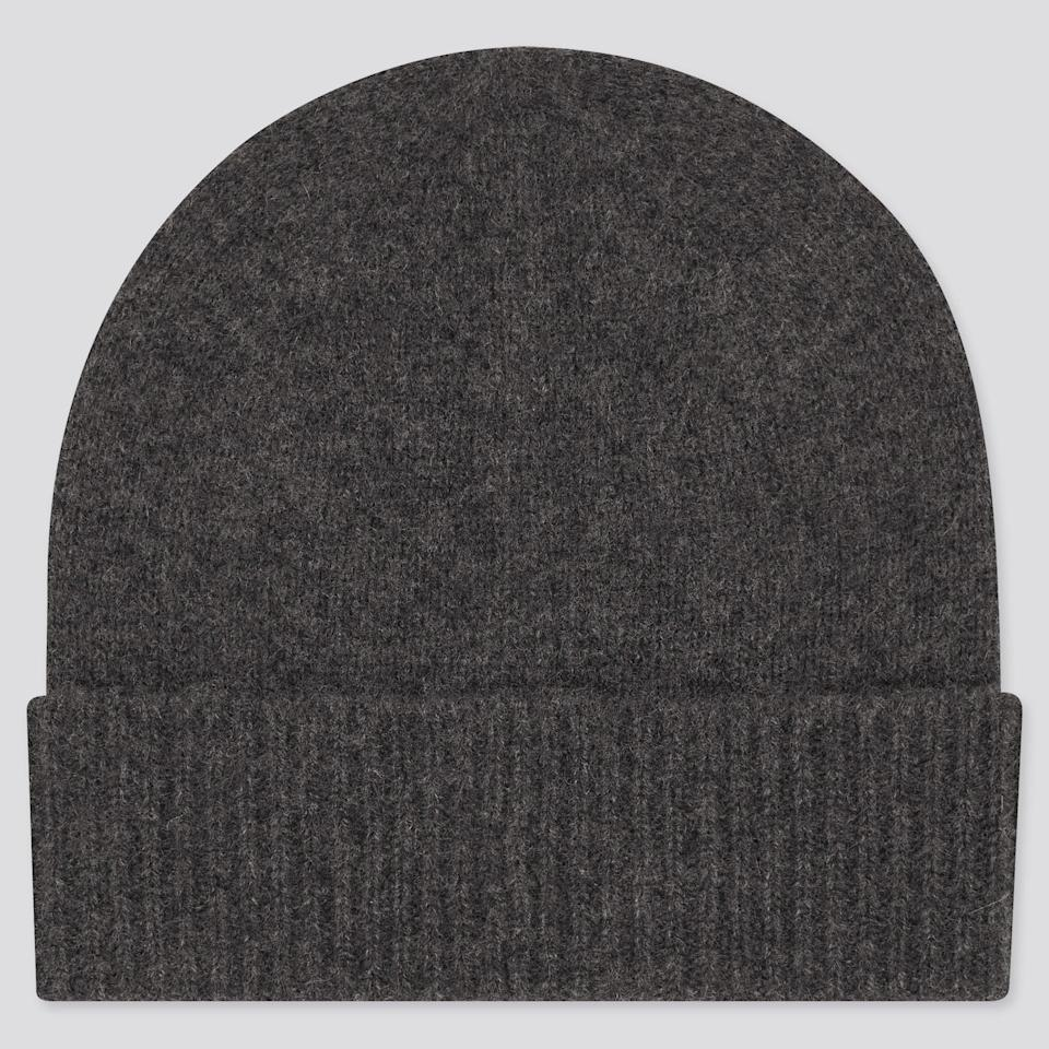 <p>This soft, cozy <span>Uniqlo Cashmere Knitted Beanie</span> ($30) makes for a great gift.</p>