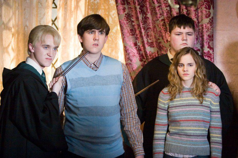 Harry Potter's Draco, Neville and Hermione (Credit: Warner Bros)