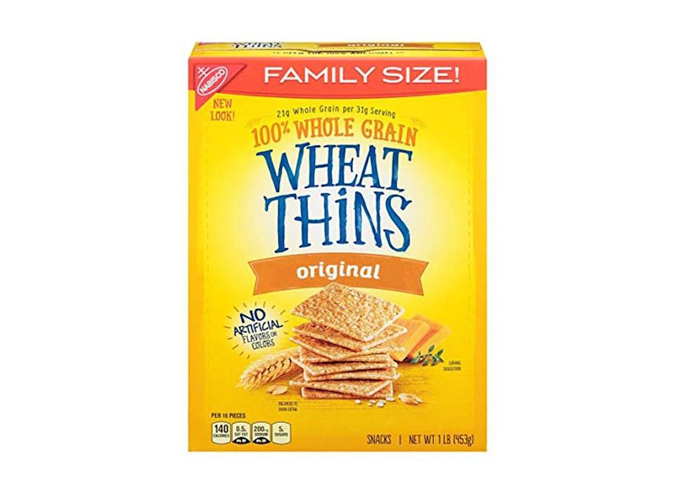 family size box of original wheat thins