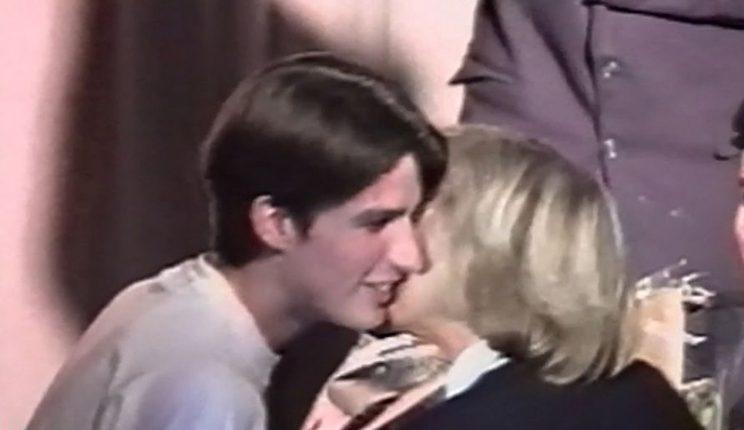 Emmanuel Macron and his then teacher Brigitte Trogneux