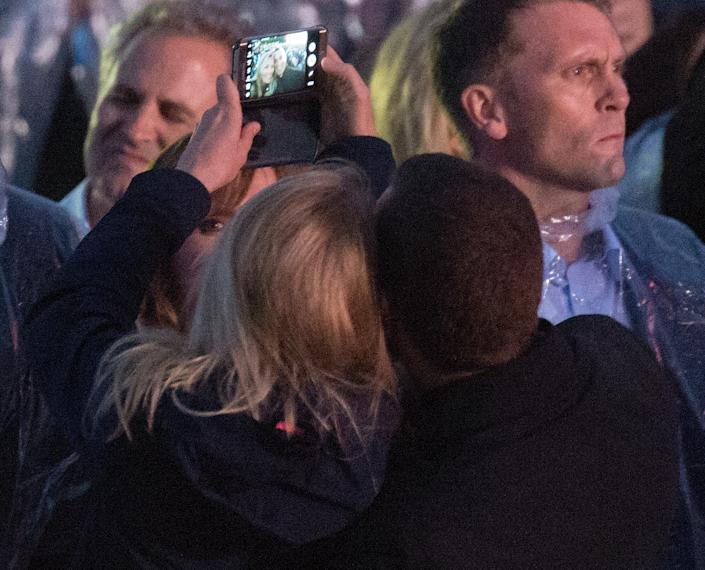 LONDON, UNITED KINGDOM - JUNE 28: (EMBARGOED FOR PUBLICATION IN UK NEWSPAPERS UNTIL 48 HOURS AFTER CREATE DATE AND TIME) Autumn Phillips and Peter Phillips take a selfie as they attend the Sentebale Concert at Kensington Palace on June 28, 2016 in London, England. Sentebale was founded by Prince Harry and Prince Seeiso of Lesotho over ten years ago. It helps the vulnerable and HIV positive children of Lesotho and Botswana. (Photo by Max Mumby/Pool/Indigo/Getty Images)