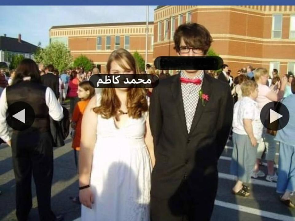 Evan Cameron, right, and his sister, Ali, are seen together in a Facebook photo from 2007. A man in Iraq has taken over Ali's account since her death in 2013. (Submitted by Evan Cameron - image credit)