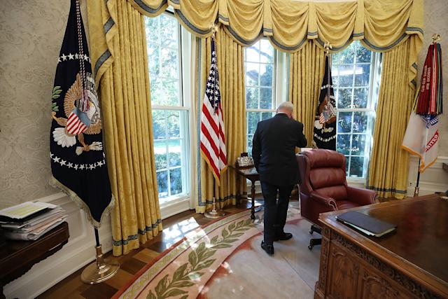 White House Chief of Staff John Kellysaid that he doesn't follow the president's tweets. (Mark Wilson/Getty Images)