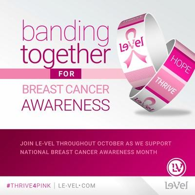 Le-Vel kicks off fourth year of breast cancer awareness campaign