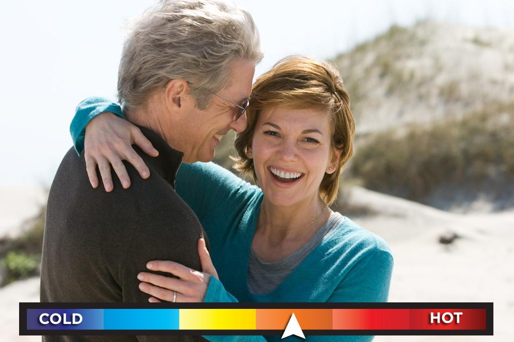 "Who: Richard Gere & Diane Lane<br>Seen in: <a target=""_blank"" href=""http://movies.yahoo.com/movie/nights-in-rodanthe/"">""Nights in Rodanthe""</a> (2008)<br><br>Formulaic plot? Check. Contrived dialogue? Check. Ridiculously dramatic shots of windswept seascapes? Check. Unbelievably maudlin third act? Check. (Duh, it's a Nicholas Sparks movie!) Yet, in spite of all those red flags, romantic film vets Gere and Lane are somehow able to keep their heads above water and their attraction to each other afloat even as the schmaltz... I mean storm, moves in.<br><br><a target=""_blank"" href=""http://bit.ly/lifeontheMlist"">Follow Matt Whitfield on Twitter!</a>"