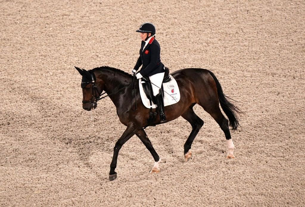Great Britain's Natasha Baker was riding Keystone Dawn Chorus for the first time in a major event (Tim Goode/PA) (PA Wire)