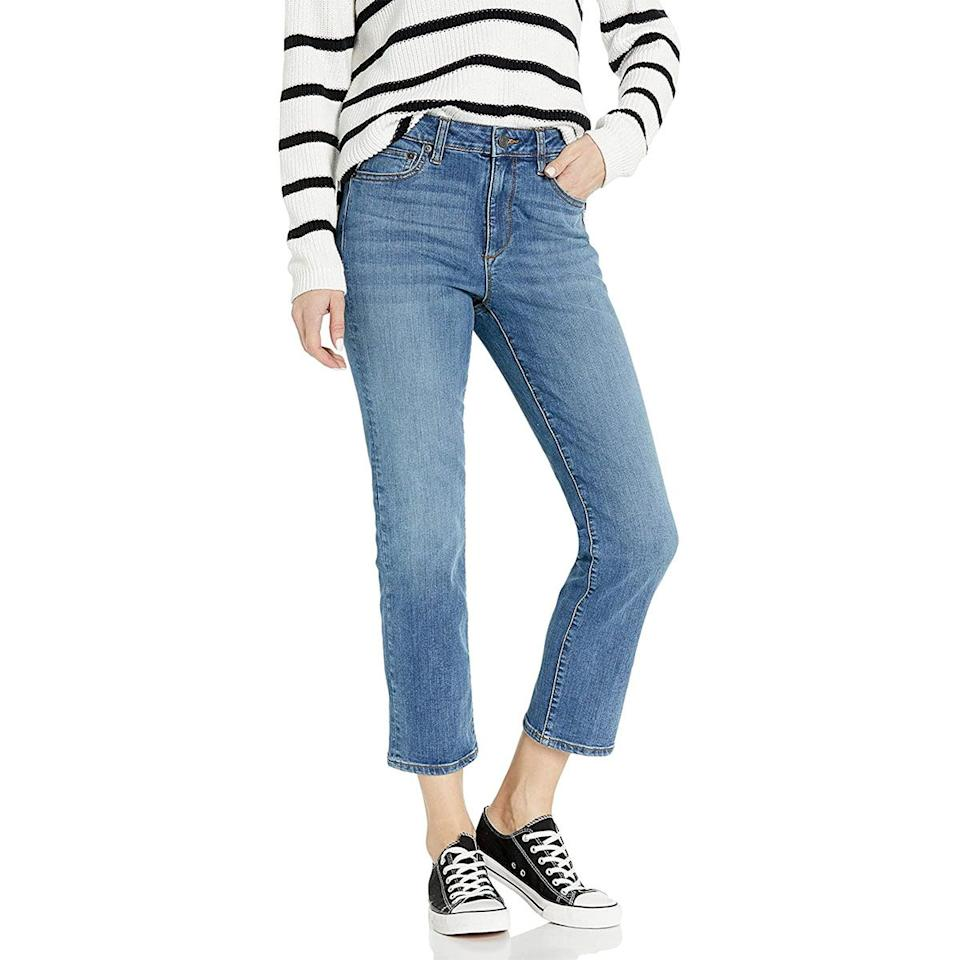 The Drop Womens Miranda High-Rise Straight Fit Ankle Jean