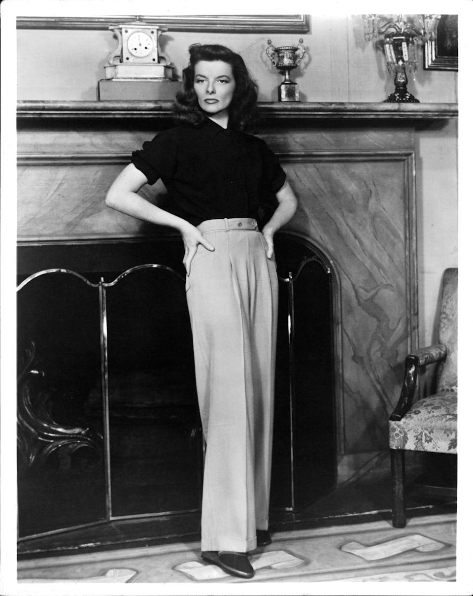 <p>Menswear for women? A novel concept, pioneered by the elegant Katharine Hepburn. </p>
