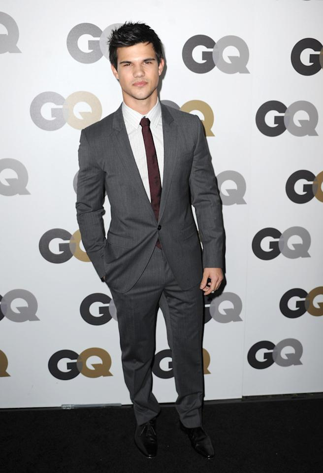 "LOS ANGELES, CA - NOVEMBER 17:Actor Taylor Lautner arrives at the 15th annual ""GQ Men of the Year"" party held at Chateau Marmont on November 17, 2010 in Los Angeles, California.  (Photo by Frazer Harrison/Getty Images) *** Local Caption *** Taylor Lautner"