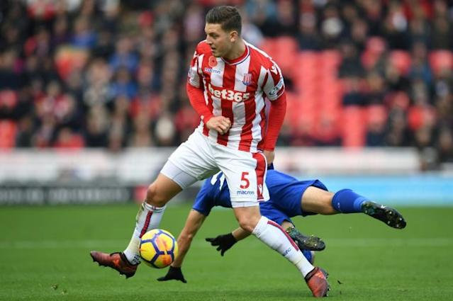 Stoke City defender Kevin Wimmer made just 19 appearances in all competitions as Stoke were relegated from the Premier League