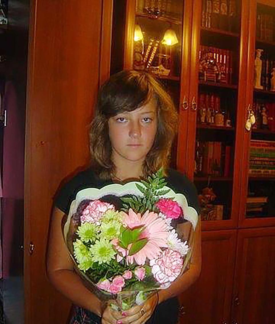 Alexandra Erokhova pictured as a teenager. The bride died on her wedding day in Moscow reportedly from a nut allergy.