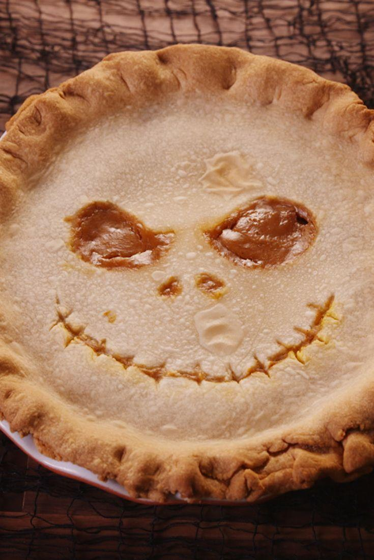 "<p>Jack Skellington's grin seals the deal on this wicked dessert.</p><p>Get the recipe from <a href=""https://www.delish.com/cooking/recipe-ideas/recipes/a49704/jack-skellington-inspired-pumpkin-caramel-pie-recipe/"" rel=""nofollow noopener"" target=""_blank"" data-ylk=""slk:Delish"" class=""link rapid-noclick-resp"">Delish</a>. </p>"