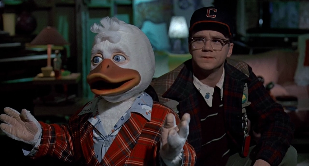 Howard the Duck and Tim Robbins (Photo: Lucasfilm)