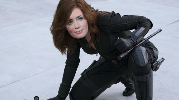 """No. Shan't!"" — Black Widow to the bad guys"