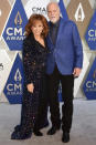 """<p>The pair made their red carpet debut at the 2020 CMA Awards in November, which McEntire hosted (alongside Darius Rucker) in Nashville.</p> <p>""""We're both excited that he's going to be there with me,"""" the singer <a href=""""https://people.com/country/cma-awards-2020-reba-mcentire-darius-rucker-host-interview/"""" rel=""""nofollow noopener"""" target=""""_blank"""" data-ylk=""""slk:told PEOPLE"""" class=""""link rapid-noclick-resp"""">told PEOPLE</a> of her date.</p>"""