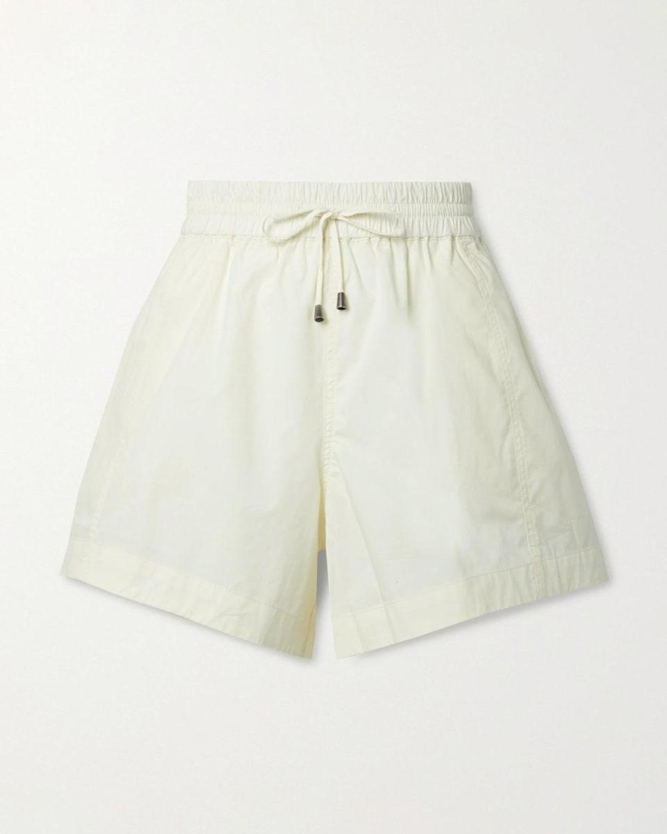 """""""Easy-breezy is the mood of these cotton-poplin shorts. They're polished enough for museum-going, relaxed enough for the park, and have a high-waisted retro feel—good for someone who doesn't consider themselves a shorts person."""" - <em>LR</em> $245, Net-a-Porter. <a href=""""https://www.net-a-porter.com/en-us/shop/product/apiece-apart/clothing/short-and-mini/trail-cotton-poplin-shorts/560971904545080"""" rel=""""nofollow noopener"""" target=""""_blank"""" data-ylk=""""slk:Get it now!"""" class=""""link rapid-noclick-resp"""">Get it now!</a>"""