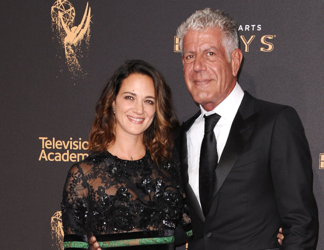 Asia Argento and Anthony Bourdain. (Photo: Getty Images)