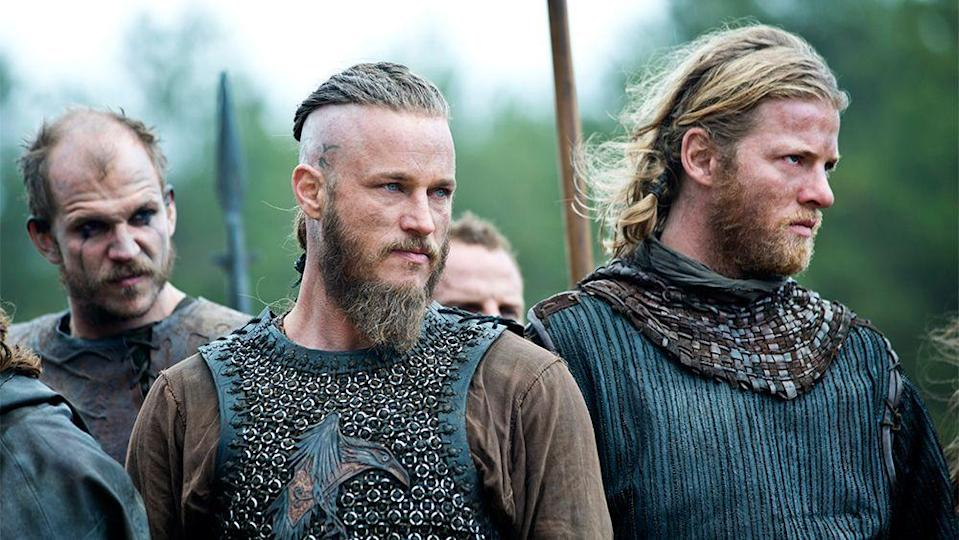 """<p>This History Channel series about (you guessed it) vikings in the late 700s, follows the strapping young Norsemen as they try to conquer new lands. <em>Outlander</em> obsessives will enjoy not only the sultry story lines, but also scenes on the battlefield. </p><p><a class=""""link rapid-noclick-resp"""" href=""""https://go.redirectingat.com?id=74968X1596630&url=https%3A%2F%2Fwww.hulu.com%2Fseries%2Fvikings-8bc072a3-4a5e-47cb-9cb6-bc3dc3785fe1&sref=https%3A%2F%2Fwww.townandcountrymag.com%2Fleisure%2Farts-and-culture%2Fg28484672%2Fshows-like-outlander%2F"""" rel=""""nofollow noopener"""" target=""""_blank"""" data-ylk=""""slk:Watch Now"""">Watch Now</a></p>"""