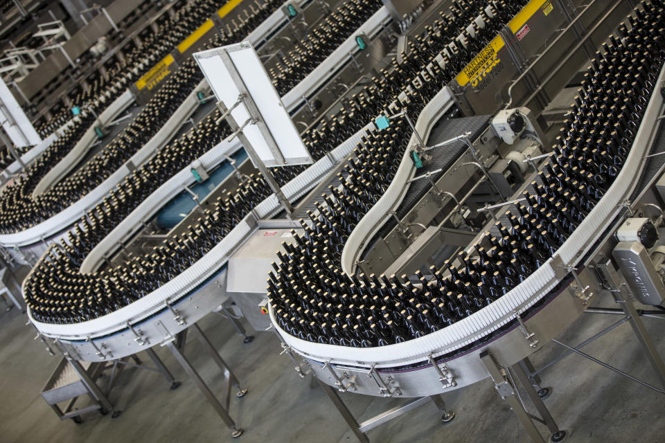 The Baileys production line in Northern Ireland (Diageo/PA)
