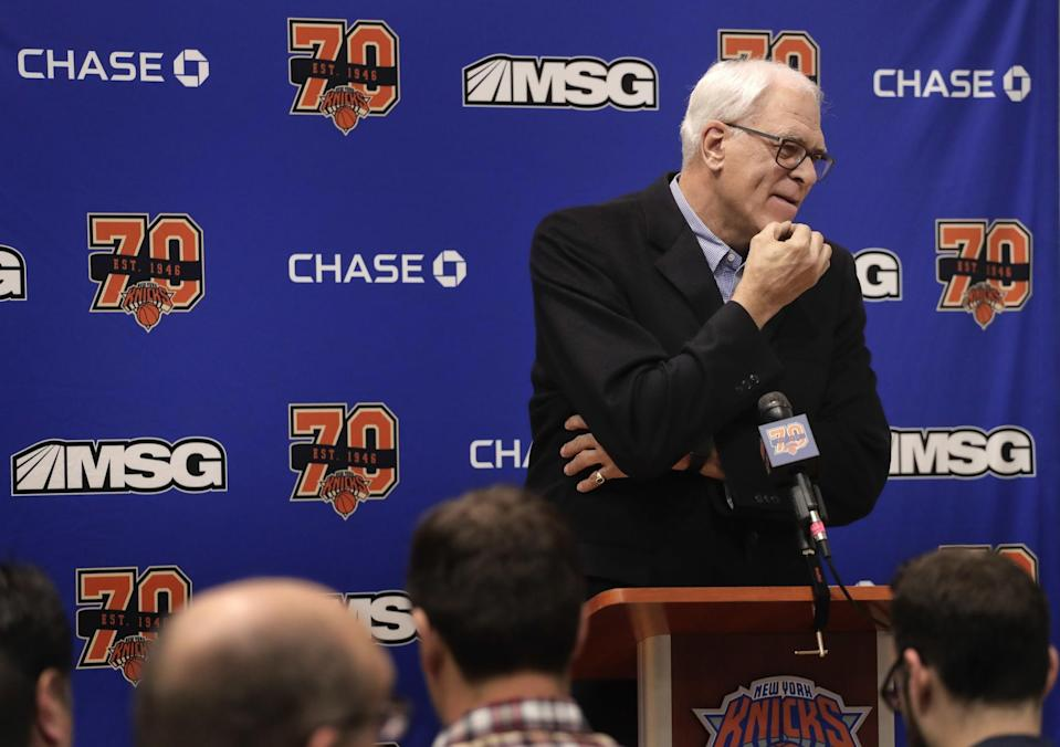Phil Jackson's management style hasn't helped the Knicks. (AP)