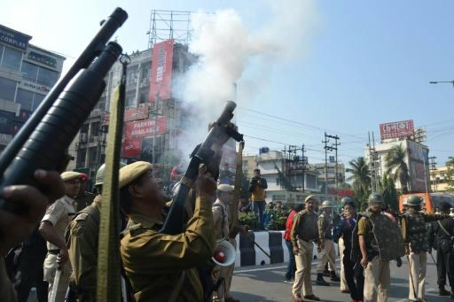 Police fired tear gas in India's Assam state as thousands demonstrated against a contentious new citizenship bill