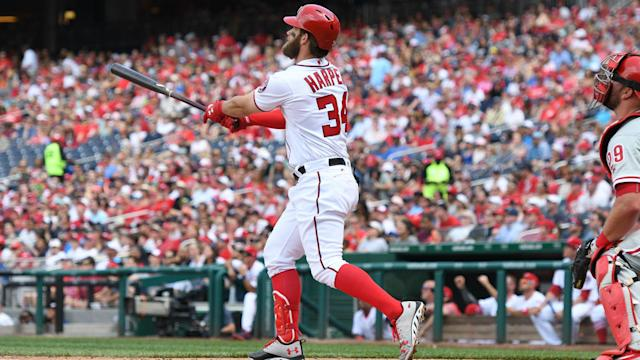 The dinger was Bryce Harper's second of the game.