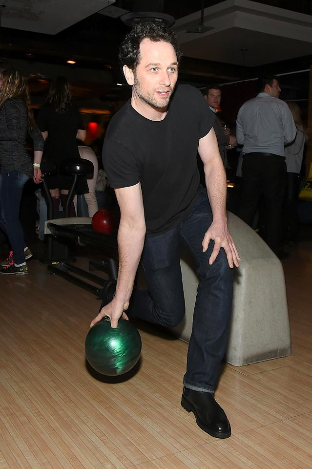 <p>The <i>Americans</i> star hit up Lucky Strike lanes in the Big Apple for the FX All-Star Bowling Party. Think he out bowled his partner and co-star, Keri Russell? (Photo: Ben Gabbe/Getty Images) </p>