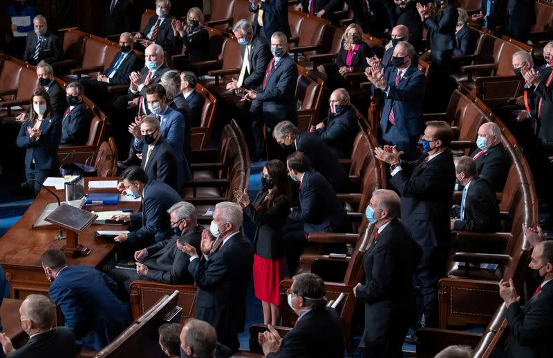 Joint session to certify the 2020 election results, in Washington
