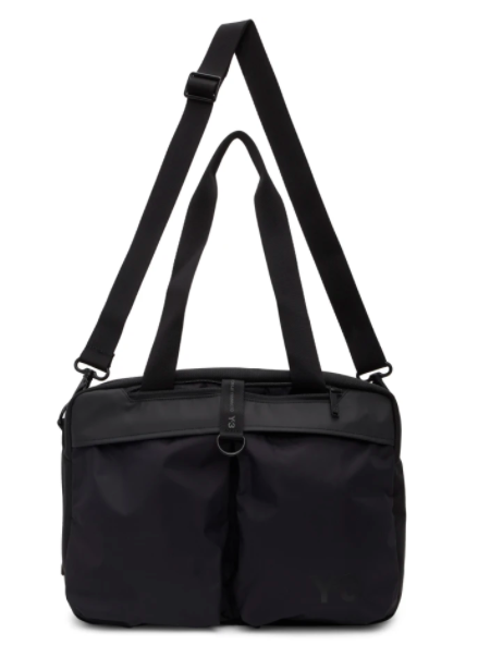 Y-3 black holdall duffle bag, 49% off. US$218 (was US$428). PHOTO: Ssense