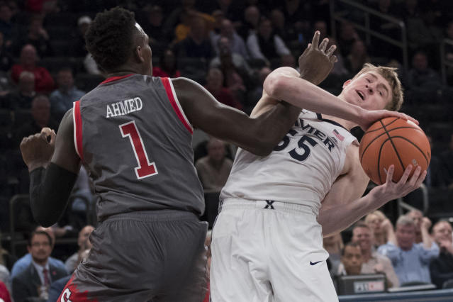 St. John's and Xavier got into a scuffle after their game in the Big East Tournament on Thursday. (AP)