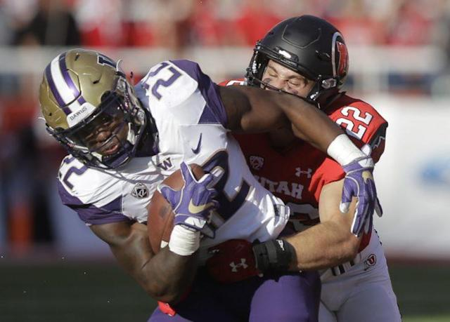"<a class=""link rapid-noclick-resp"" href=""/ncaaf/players/213567/"" data-ylk=""slk:Chase Hansen"">Chase Hansen</a> led Utah in tackles in 2016. (AP Photo/Rick Bowmer)"