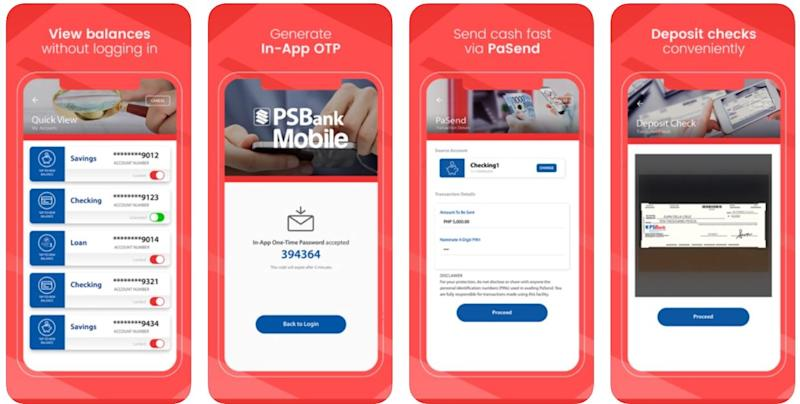 mobile banking apps - psbank app