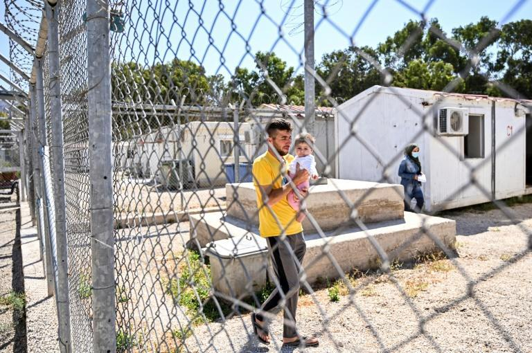 The new Leros camp will have magnetic gates, x-ray machines, cameras and a pre-deportation holding facility (AFP/Theophile Bloudanis)