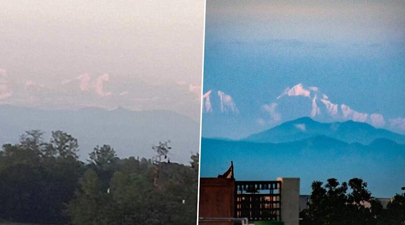 Himalayas Visible From Different States of North India As Air Pollution Dips! From Mt Everest to Gangotri Glacier, Lockdown Puts India's Mighty Mountain Ranges on Stunning Display (View Pics and Videos)