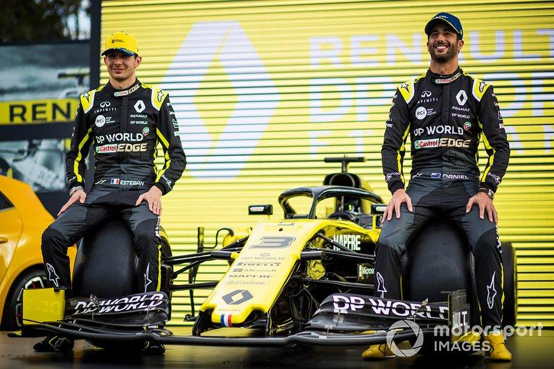 "Esteban Ocon, Renault F1 Team and Daniel Ricciardo, Renault F1 Team<span class=""copyright"">Sam Bloxham / Motorsport Images</span>"
