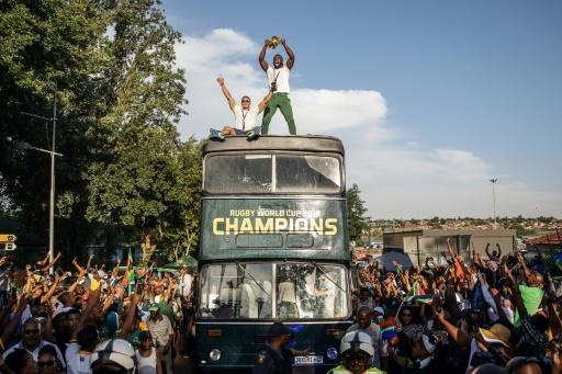 South African Rugby captain Siya Kolisi brought the World Cup to Soweto